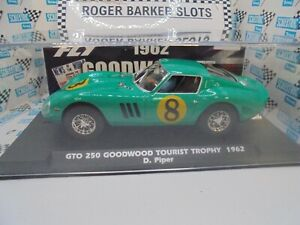 "Fly/Slotwings E2033 Ferrari 250GTO ""Goodwood 62"" #8 042/200 1/32 slot car BNIB"
