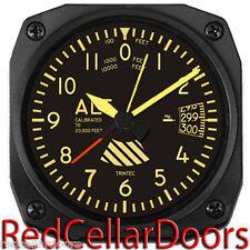 "New TRINTEC ALTIMETER 3.5""  VINTAGE Altitude Aviation Travel Alarm Clock"