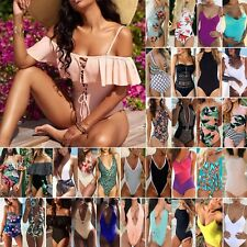 Womens One Piece Swimwear Bikini Set Push Up Bandage Monokini Swimsuit Beahwear