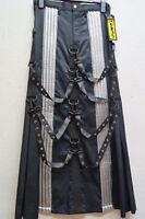 Herrenrock Contest Skirt Ripp Black Sektor 1 Gothic Cyber  Gr.S/M