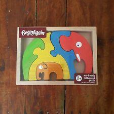 Casse-tête éducatif - puzzle en bois pour bébé et enfant - famille éléphant