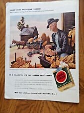 1942 Lucky Strike Cigarette Ad Outside the Tobacco Curing Bar Painted by Benton