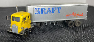 1950's ULRICH MACK COE Kraft Quality Foods  TRUCK 1/87 SCALE Yellow