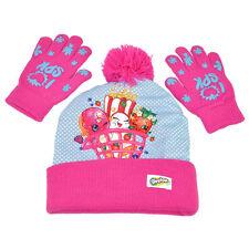 Shopkins I Love SPK Pink Girls Beanie Hat Glove 2 Piece Set One Size