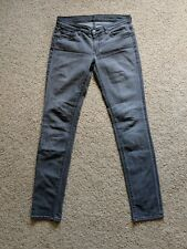 SEVEN 7 FOR ALL MANKIND Roxanne skinny gray smoke ladies women's size 29 jeans