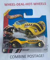 HOT WHEELS 2013 HW RACING DIESELBOY RARE SHORT CARD MOC!