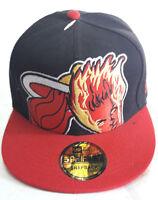 NBA Miami Heat Hat Cap New Era 59 Fifty Snapback 2 Color Tone One Size New