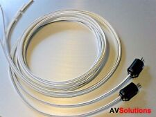 Quality 1 Mtr. Speaker Cables (2-Pin DIN Plugs, Pair) for Bang & Olufsen B&O S19