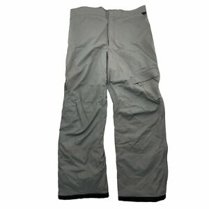 Columbia Snow Pants Mens XL 33.5 Inseam Gray Vertex Insulated Ski Snowboard