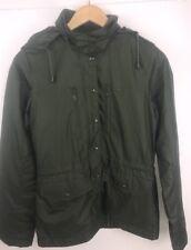 Women's Lacoste Hooded Rain Coat Jacket Size 34 Forest Green