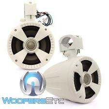 "SOUNDSTREAM WTS-6W WHITE 6.5"" TITANIUM TWEETERS MARINE BOAT WAKE TOWER SPEAKERS"
