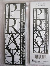 PRAY inspirational bookmarks pack of 12--1 Thessalonians 5:16-18
