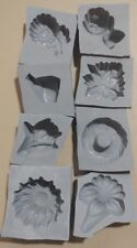 8 piece FLORAL Candy Cream Cheese Mint Grey Rubber Molds Rose leaf Daisy orchid
