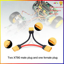 XT90 Connector in Series Harness 10awg Lead Adapter Cable for ESC Batteries TP#
