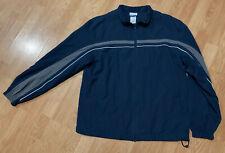 Beautiful Men's Navy Blue Classic Reebok Full Zip Up Windbreaker Running Jacket