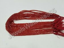 Aventurine Red laser faceted rondelles loose gemstone beads for jewelry