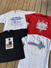Lot Of 4 Vintage Single Stitch T Shirts Various Sizes Conds. Graphic Wholesale