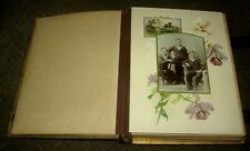 VICTORIAN LEATHER PHOTO ALBUM WITH 56 X CDV CABINET PHOTOGRAPHS INTRIGUING