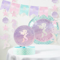 Iridescent Mermaid Party Birthday Decorations Kit