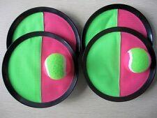 Klettball (Catchball)-Spiel mit 4 Fangscheiben und 2 Klettbällen