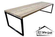 tavolo In legno Con gambe in ferro Vintage
