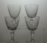 STUNNING CUT GLASS CRYSTAL SHERRY PORT GLASSES SET OF 4,