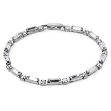 Silver Sparkle Rectangular Bracelet
