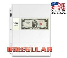 Lot of 10 BCW 4-Pocket Irregular Currency Album Pages (#849)