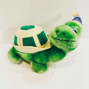 Vintage Russ Plush Turtle Happy Birthday Money Holder Korea 80s Stuffed Animal