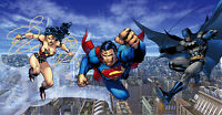 Jim Lee SIGNED Trinity BM SM and WW DC Giclee on Canvas Limited Ed of 100