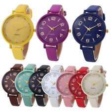 Fashion Womens Stainless Steel Watch Leather Analog Quartz Casual Wrist Watches