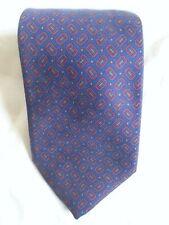 Ben Silver Cravate Navy, Red squares Mens neckwear Tie