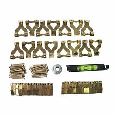 40Pc Picture Hanging Kit Mirror Photo Frame Hooks Brass Nail Level Set Wall Kit