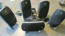 Set of  5 Logitech Z-5500 THX Satellite Surround Sound PC Home Theater Speakers
