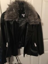 harper&liv faux leather motorcycle jacket 3x retails 119.00
