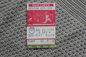 1977 (July 23) Boston Red Sox v. Cleveland Indians baseball ticket stub Fisk HR
