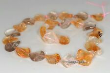 14MM  MIX QUARTZ GEMSTONE TWIST DIAMOND LOOSE BEADS 7.5""
