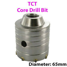 """PRO 65 mm (2.56"""") TCT Core Trapano-Piastrelle Marmo Mattone di vetro foro SAW CUTTER"""