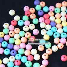 Smooth Ball Spacer 4mm 6mm 8mm 10mm 12mm Pastel Color Acrylic Round Beads