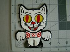 vintage style Felix the cat license plate topper Felix eyes move stamped steel(Fits: Carolina)