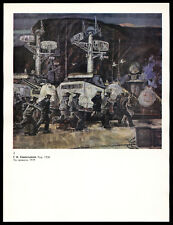"""""""By Alarm"""" Combat exercises of sailors on boats USSR Soviet Military Art Print"""