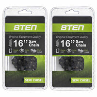 "2 Pack Chainsaw Chain 3/8"" 0.043 Semi Chisel 55 DL for 16"" Stihl MS170C MS171"
