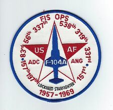F-104 FIS OPS 1957-1969 patch