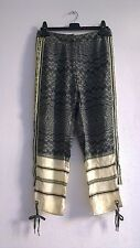 H&M Studio S/S 2016 Khaki Silk Patterned Trousers UK8 EU34 ONLY ONE