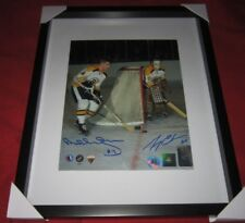 Bobby Orr / Gerry Cheevers Boston Bruins Dual Signed  8x10 Photo GNR COA AJ Holo