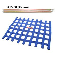 RaceQuip Blue Window Net and Mounting Install Kit Non SFI Circle Track Racing