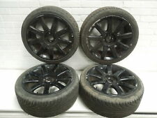 "Audi TT 8N 18"" 9 Spoke Alloy Wheels Set of 4 5x100 RS4 Design Black #2"