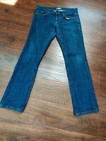 Cabi Jeans Womens Size 8 Dark Straight Leg Blue Wash.