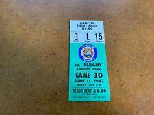 1993 London Tigers v Albany Colonie Yankees Eastern League Baseball Ticket