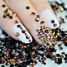 Chameleon aurora black jelly rhinestones crystals gems mix Summer Colour 3g pot